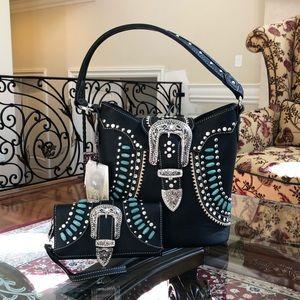Montana west rhinestone conceal handbag&wallet